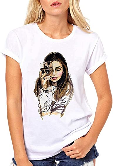 Camiseta Mujer Verano Casual Camisetas Basicas Mujeres Camiseta de ...