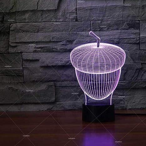 BFMBCHDJ Luz de noche para niños 3D con forma de piña Luz de noche ...
