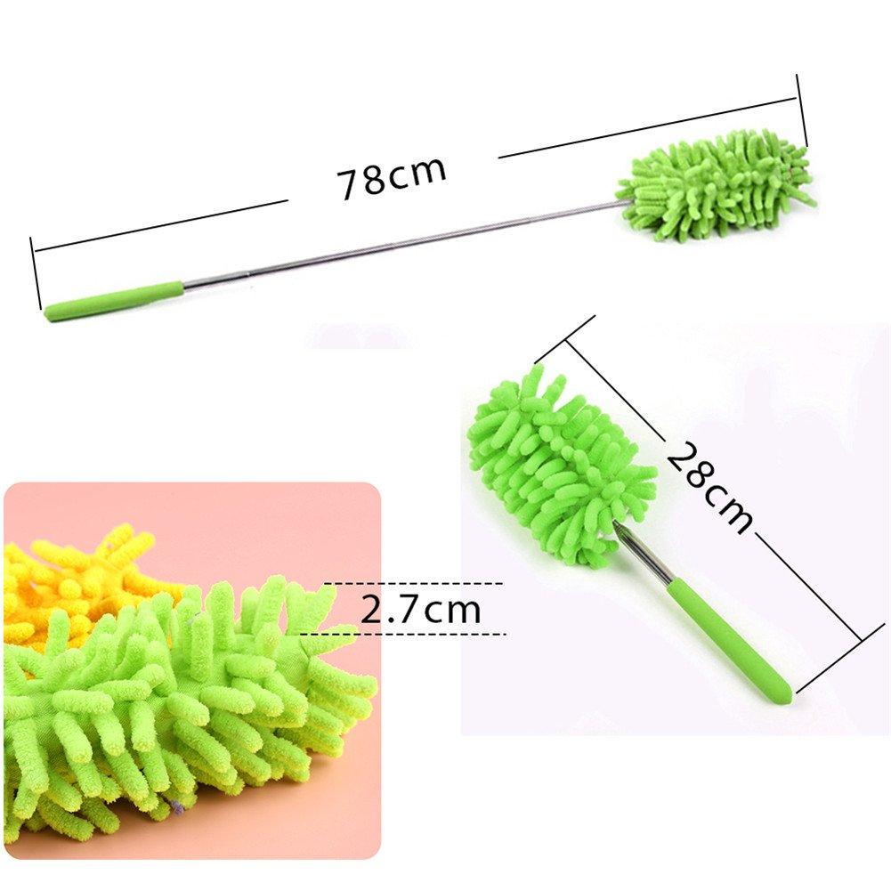 cepillo de microfibra retr/áctil GeTong Cepillo de limpieza retr/áctil para el hogar para eliminar el polvo color verde rojo rosso S herramienta de limpieza