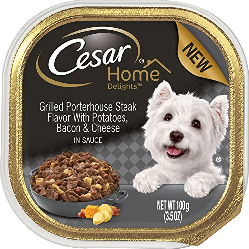 Cesar Home Delights Grilled Porterhouse Steak Potatoes, Bacon & Cheese Wet Dog Food (Pack Of 24) by Cesar
