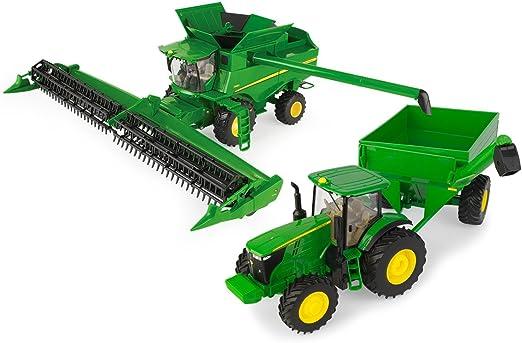 Amazon.com: John Deere 1/32 Juego de cosechas combinadas ...