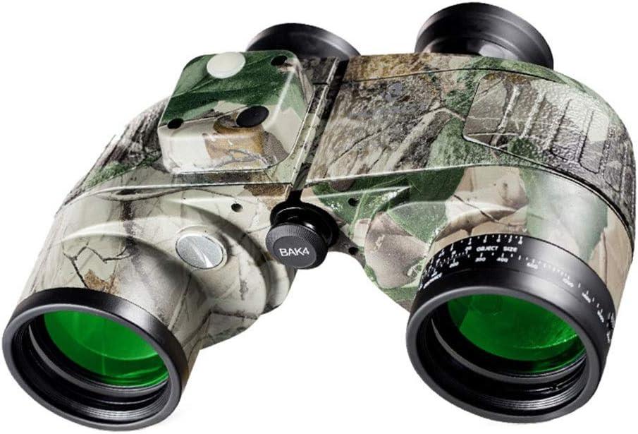 LIMUZI 10x50 prismáticos Marinas for Adultos, prismáticos Militares con Relleno de nitrógeno Impermeable telémetro Brújula BAK4 FMC Porro para observación de Aves, Deportes y Vida Silvestr