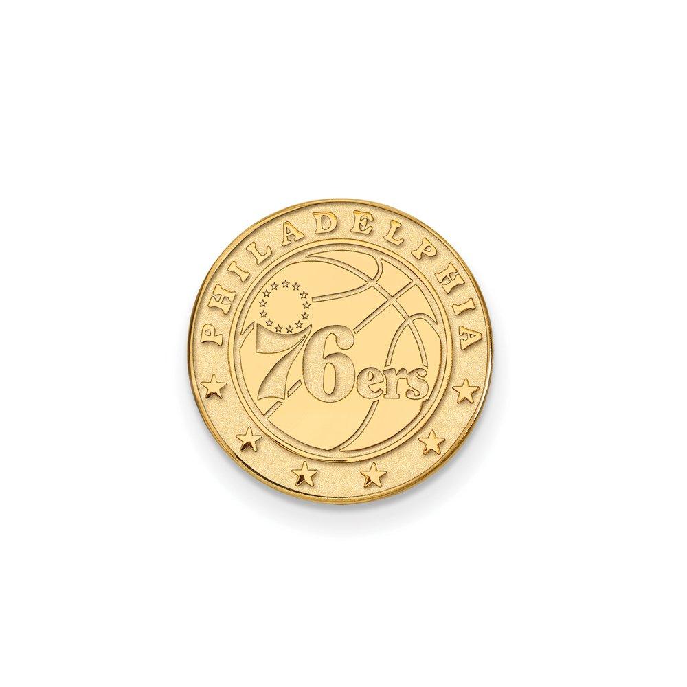 NBA Philadelphia 76ers Lapel Pin in 14K Yellow Gold