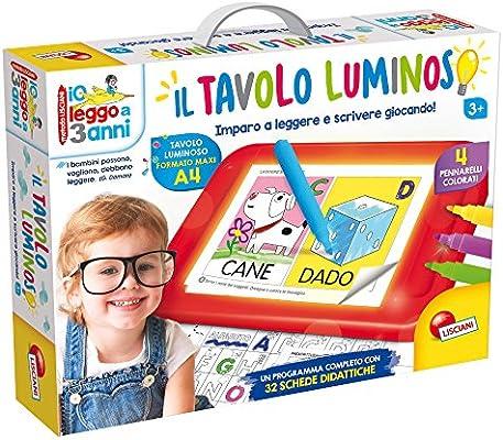 Lisciani Giochi - Leggo a 3 Anni con Tavolo Luminoso, Multicolore