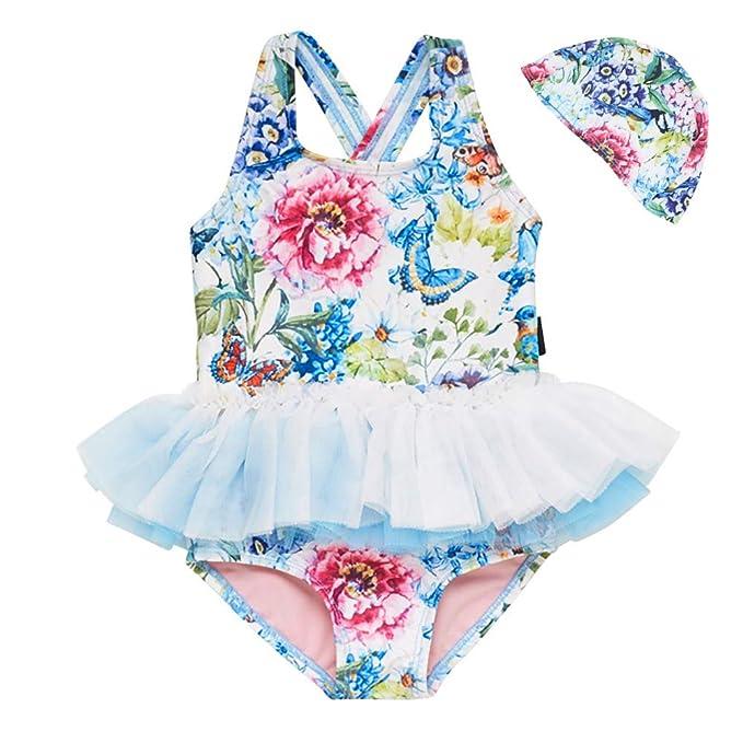 c1eb763d63 Baby Toddler Girl Swimsuit Unicorn Tutu Skirt Swimwear -One Piece Princess Swimwear  Infant Bathing Suits