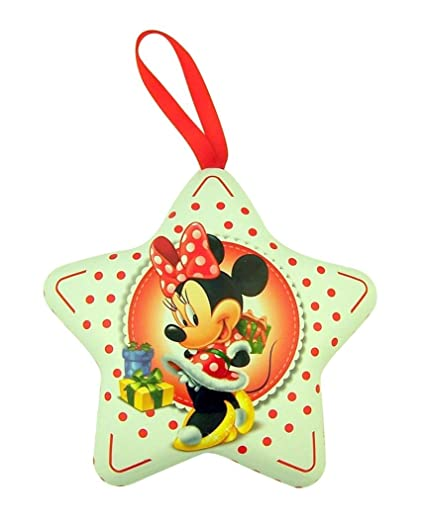 disneys minnie mouse star shaped christmas ornament tin 4 inch single - Minnie Mouse Christmas Ornament