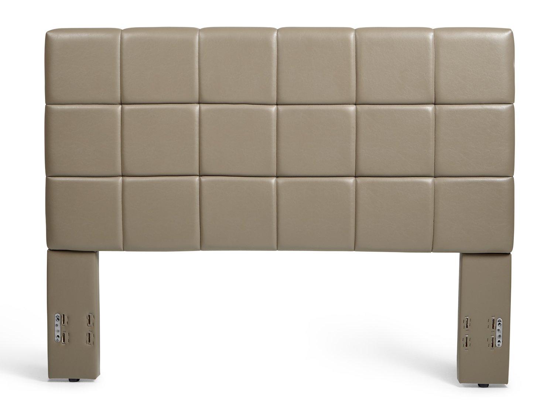Mantua KEN66HBTT Kenville Upholstered Headboard, King/California King, Taupe