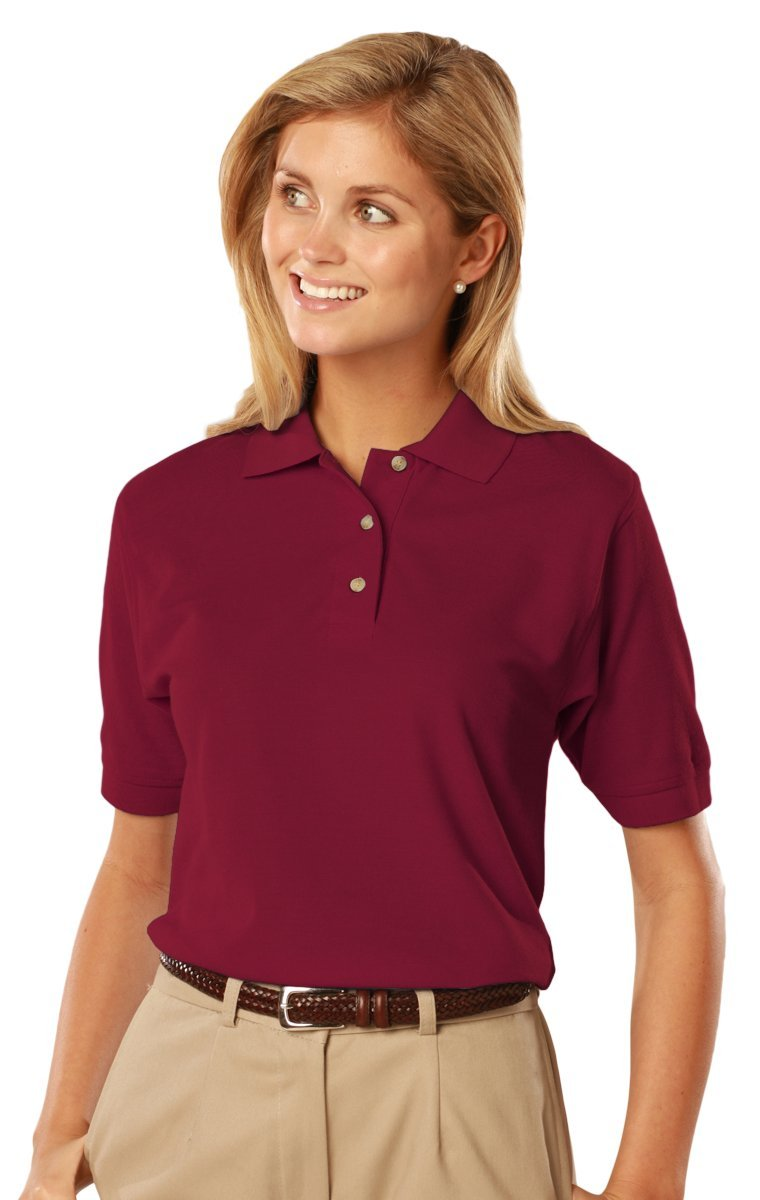 Blue Generation BG6201 -Short Sleeve Cotton Polos-Polo Shirts (XL, Burgundy)