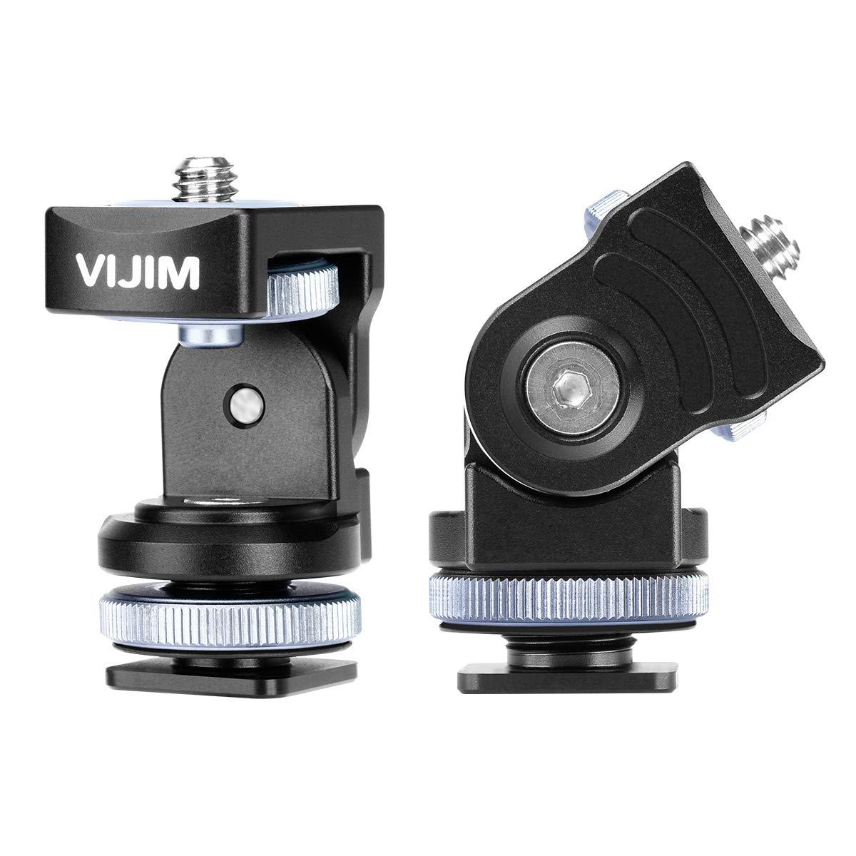 VIJIM Hot Shoe Mount Tripod Adapter for Light Stand Panoramic Camera Monitor Holder Mount 360° Rotation for Sony Canon Nikon DSLR Camera by VIJIM