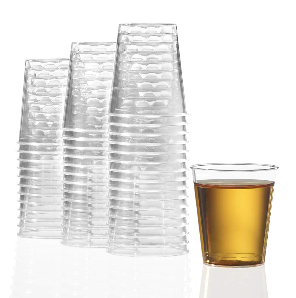 1000 Plastic Shot Glasses - 1.5 Oz Disposable Cups - 1.5 Ounce Shot Glasses - Ideal for Whiskey, Wine Tasting, Food Sampling and Sauce Dipping at Catered Events, Parties and Weddings (Clear) by Stock Your Home