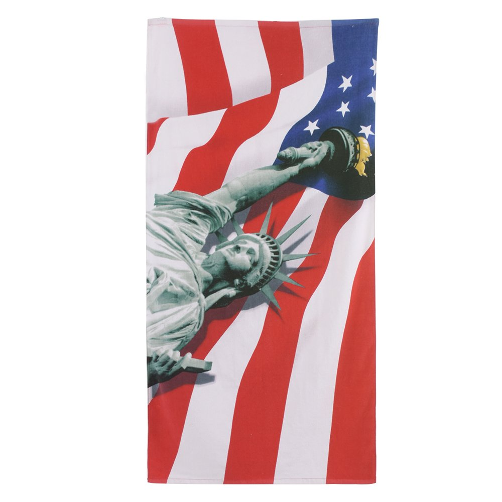 Lightweight 100/% Cotton Towel Absorbent Statue of Liberty Print Bath Towel 30 x 60 Soft JML Beach Towels