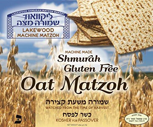 Lakewood Matzah Gluten Free Oat Machine Shmurah Matzah Kosher for Passover and the Seder 1 Lb - Square