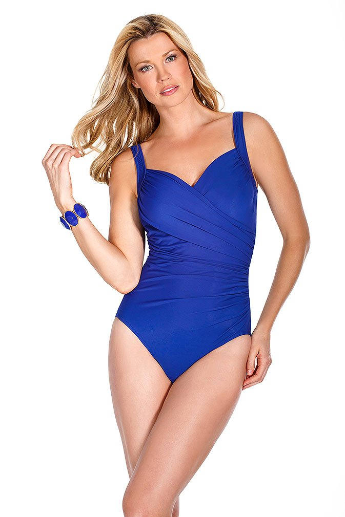 Miraclesuit Women's Must Haves Sanibel Swimsuit 14 BLUE
