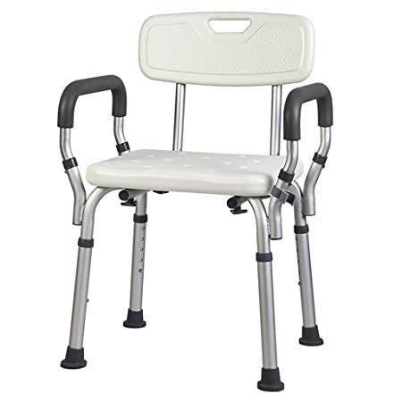 Wall Mounted Shower Seats Aluminum Alloy Bbackrest Bath Stool Thickening Antiskid Bathroom Chair For The Elderly Pregnant Women And Disabled Persons Home Improvement