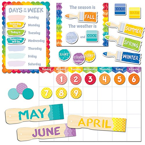 Creative Teaching Press Painted Palette Calendar Set Bulletin Board (4708) ()