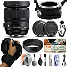 Sigma 24-105mm F4 DG OS HSM Art Lens for Canon (635101) with Exclusive Dual Lens Holder/Flipper + Wrist Strap + Cap Keeper + Deluxe Lens Cleaning Kit for Prints