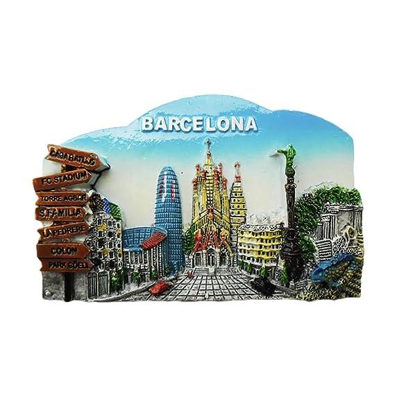 3D Barcelona España Refrigerador Imán de Nevera Recuerdos ...