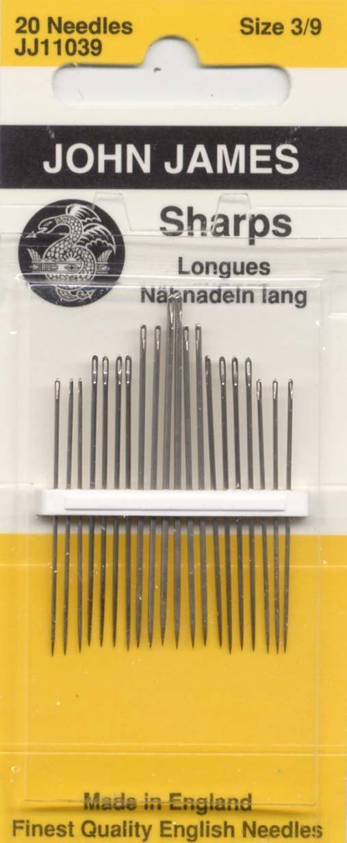 Colonial Needle Sharps Hand Needles-Size 3/9 20/Pkg Notions - In Network JJ110-3-9