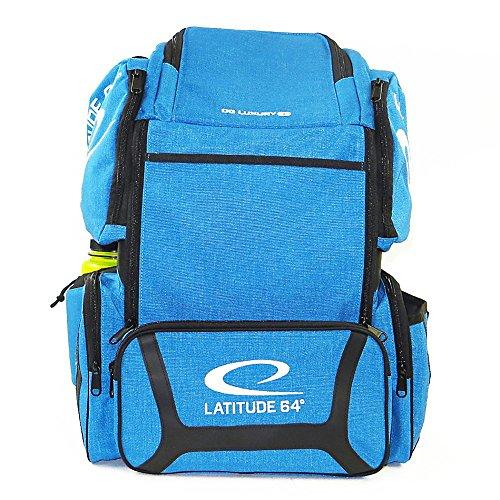 Latitude 64 DG Luxury E3 Backpack Disc Golf Bag (Blue/Black) by Latitude 64