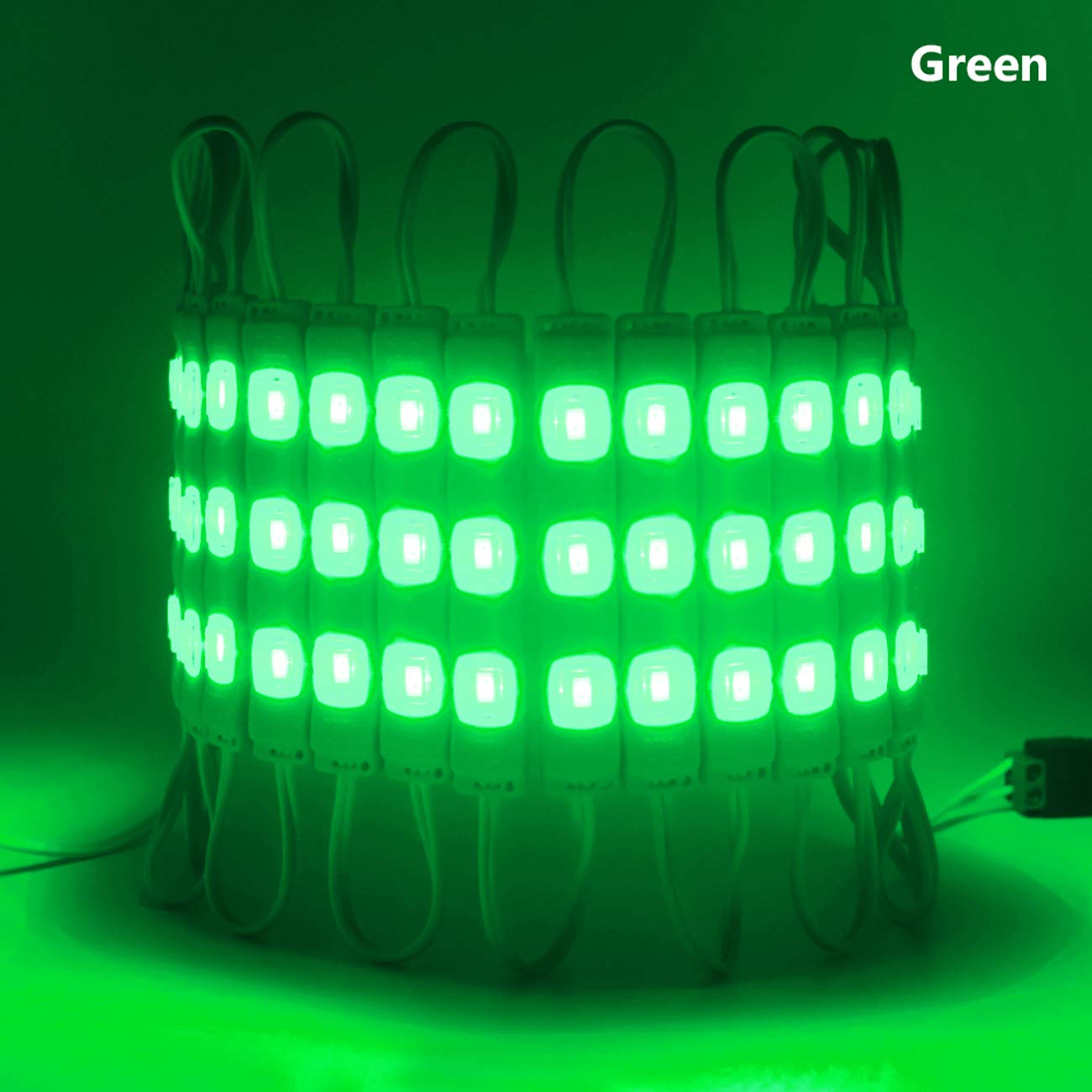 LED Module Light Green Super Bright 5730 LED Storefront Lights for Advertising Showcase Store Display Letter Sign with Tape Adhesive Backside