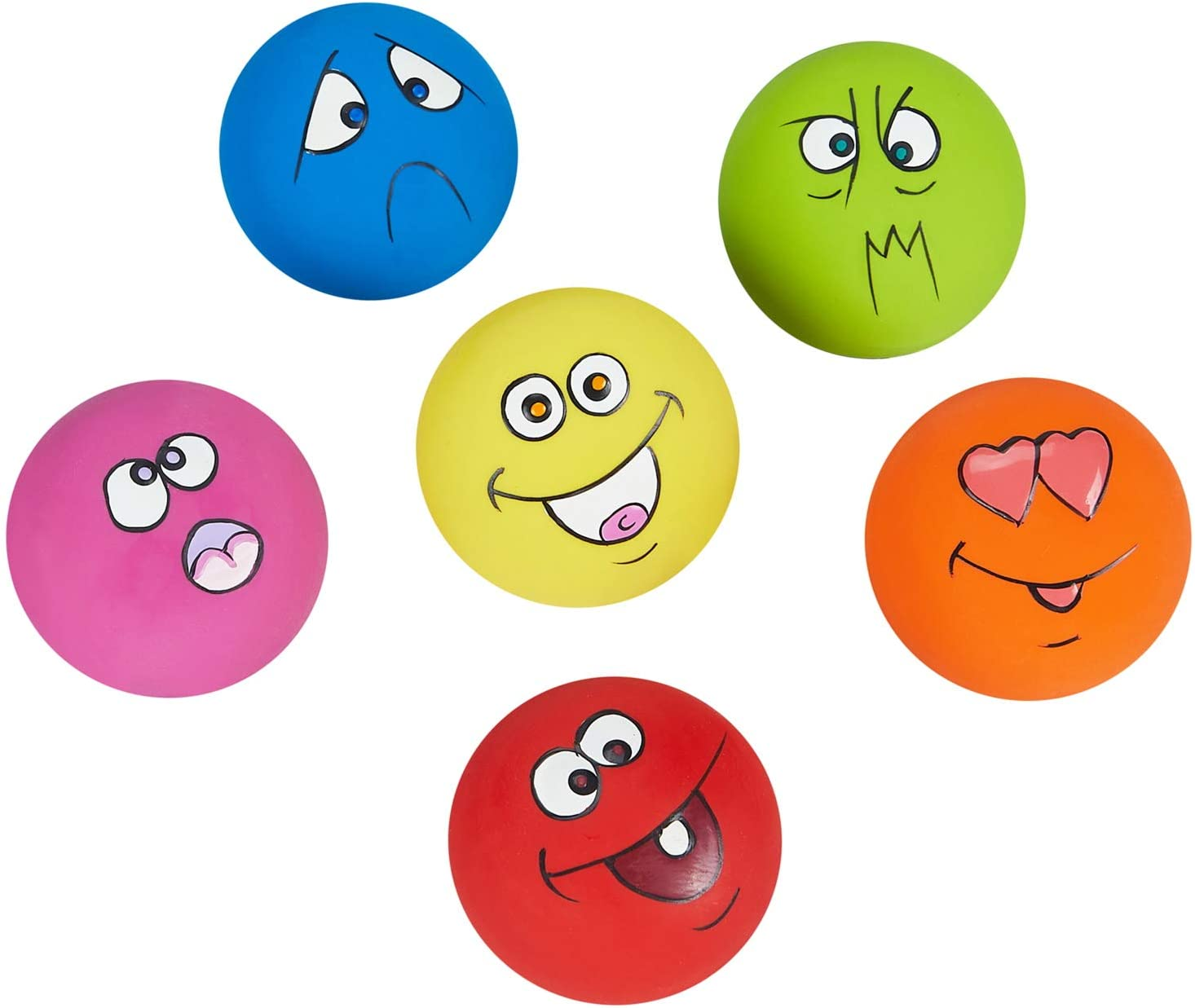 Brands Squeaky Balls with Funny Faces