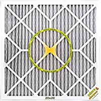 BestAir PF2020-1 Furnace Filter, 20 x 20 x 1, Carbon Infused Pet Filter, MERV 11, 6 pack