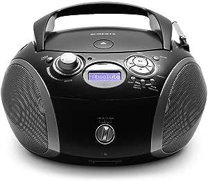 Roberts Radio ZoomBox 3 DAB/DAB+/FM/SD/USB Radio with CD Player - Black