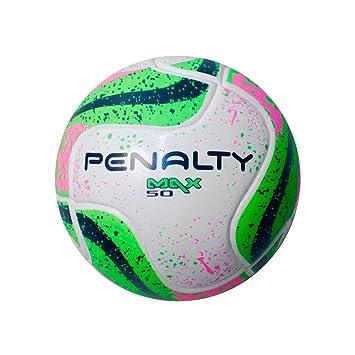 Bola Futsal Max 50 Term VII Penalty - Branco Verde Rosa  Amazon.com ... 5687c7a2e6a5f