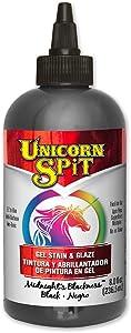 Unicorn SPiT 5771010 Gel Stain and Glaze, Midnight's Blackness 8.0 FL OZ Bottle