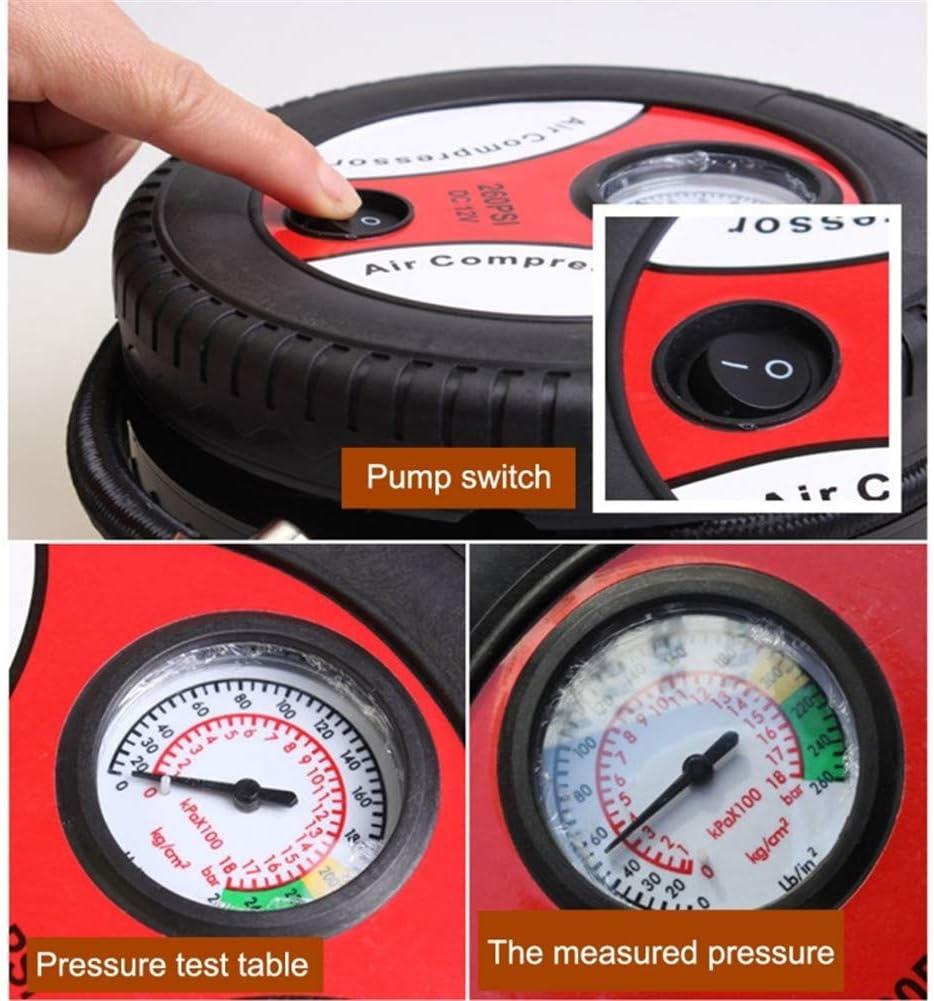 Moteur 540 id/éal pour gonfler Les pneus GCAILIAOSHIYOU Pneu de Voiture Pompe /à air 12V Mini m/énage Compact et Portable Facile /à Utiliser