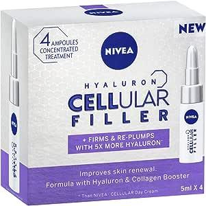 NIVEA Hyaluron Cellular Filler Ampoules, 4 x 5ml