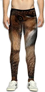 Fox Animal Men's Fitness Compression Pants Sports Leggings Tights Baselayer Yoga Trousers