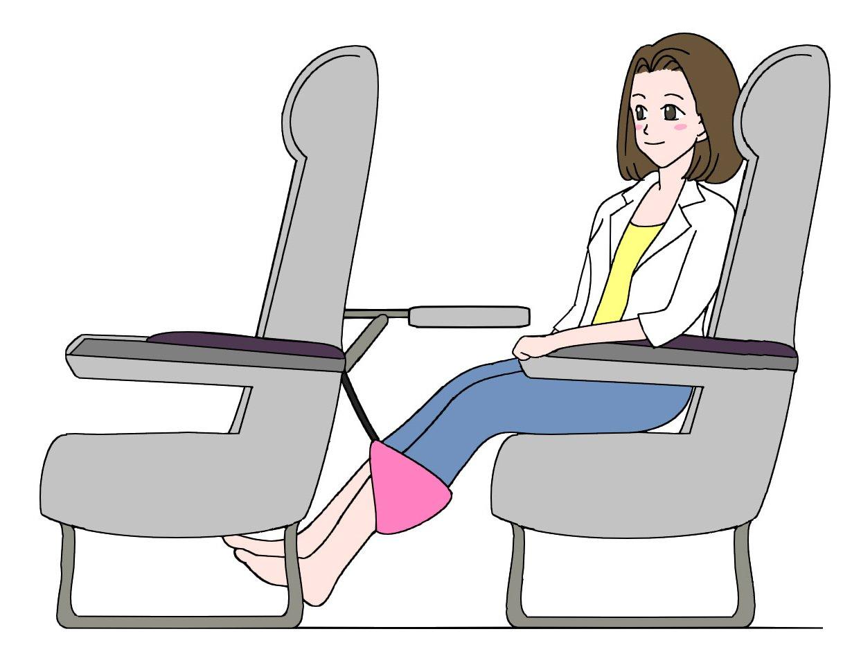 amazon com smarttravel portable travel footrest for airplane