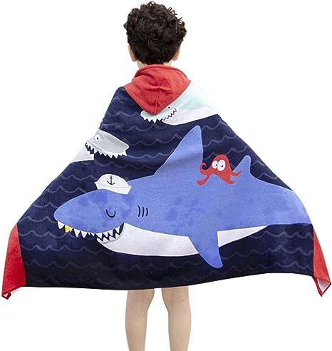 Amazon.com: Kids Hooded Bath Beach Towel - Soft Cotton Hooded Towel Wrap  for Boys Girls Bath Pool Beach Swim Pool Cover Up, 30