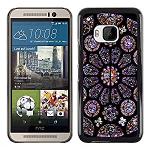 MOBMART Carcasa Funda Case Cover Armor Shell PARA HTC One M9 - Circle Of The Cathedral