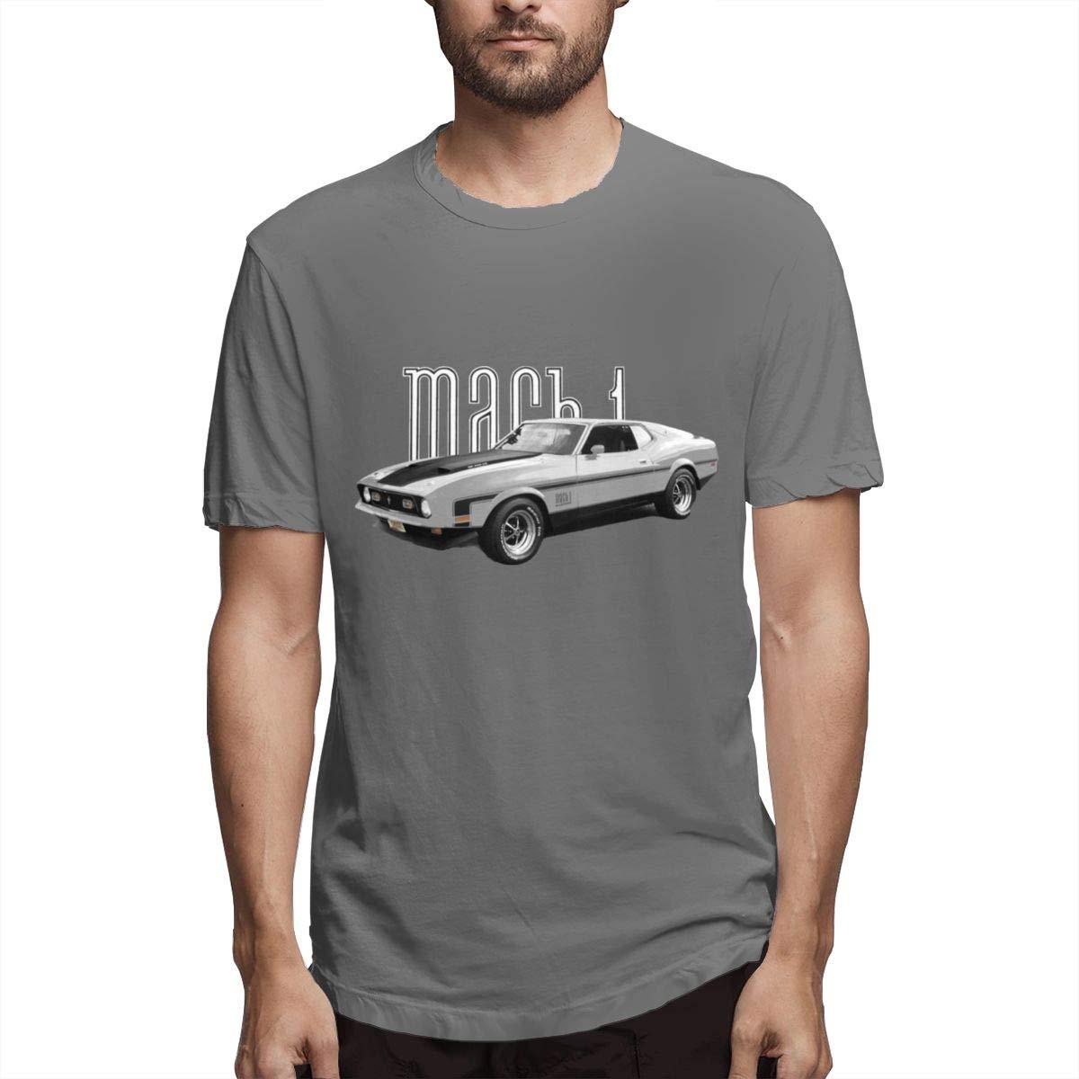 Seuriamin Silver 1972 Mach 1 Mustang S Comfortable Jogging Short Sleeve T Shirt