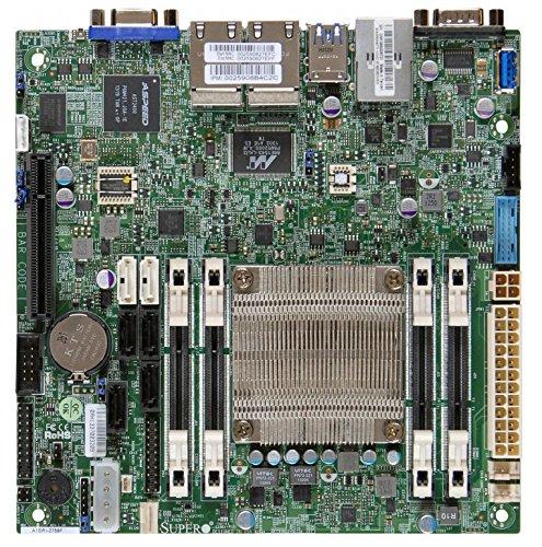 Motherboard Supermicro Ethernet (Supermicro Atom C2758 64GB DDR3 PCIE SATA USB Mini ITX DDR3 1333 NA Motherboards MBD-A1SRI-2758F-O)