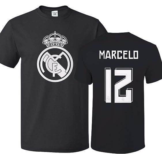 c8b5e34bfa4 ... Tcamp Real Madrid Shirt Marcelo Vieira 12 Jersey Men T-shirt Real Madrid  2015-16 JAMES 10 Away Soccer ...