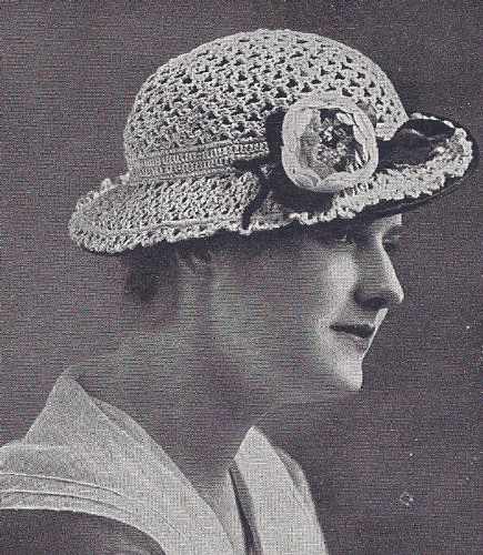Vintage Crochet PATTERN to make - Fancy Hat Crocheted Lace 1920s. NOT a finished item. This is a pattern and/or instructions to make the item -