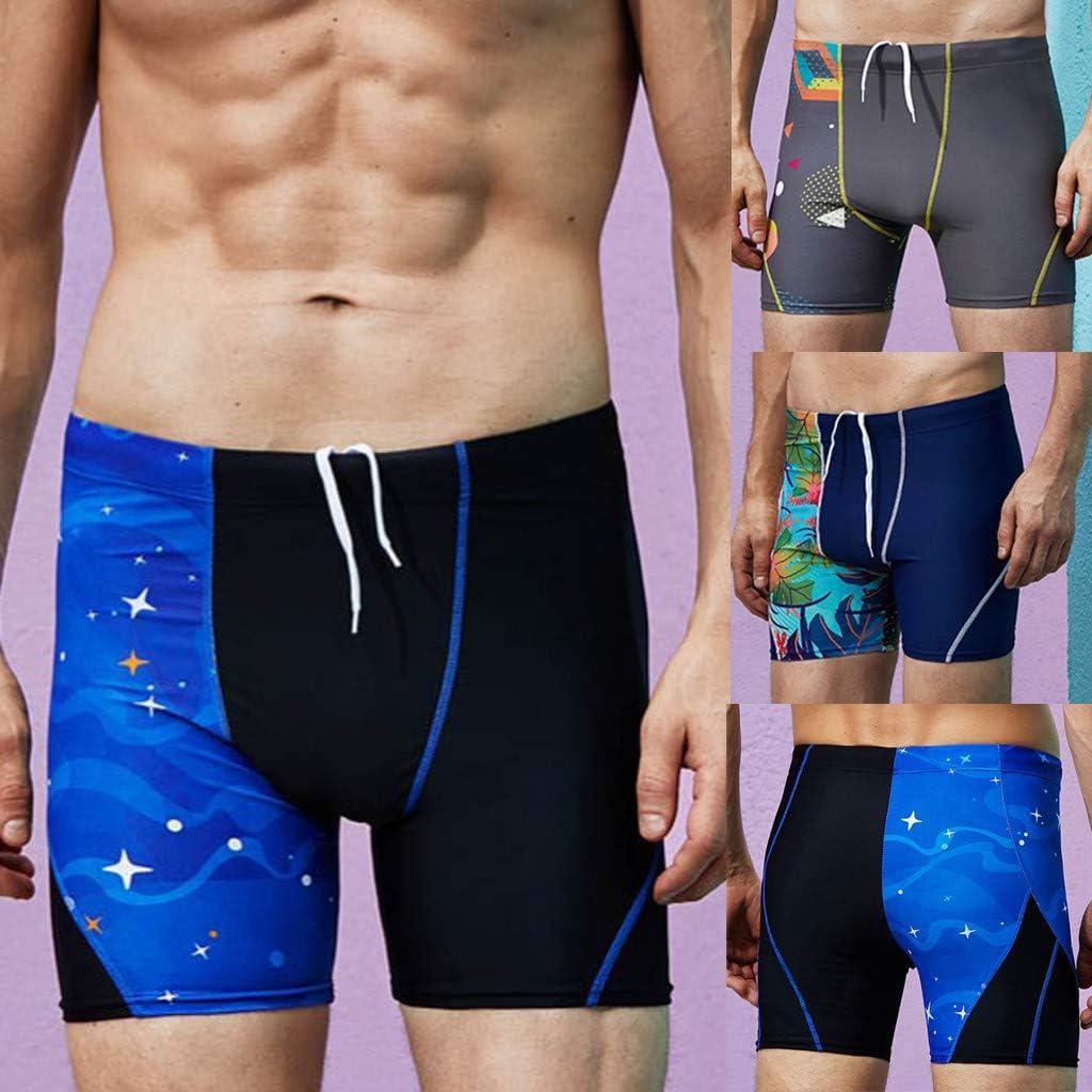 STORTO Mens Swim Trunks Square Leg Surfing Sports Beach Board Shorts Trunks Boxer Brief Swimwears