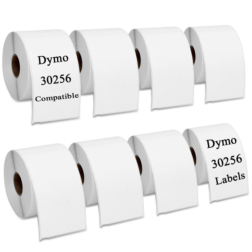 """Dymo 30256 Compatible Shipping Labels 2 5/16"""" x 4'' for Dymo Labelwriter, 8 Rolls, 2400 Labels"""