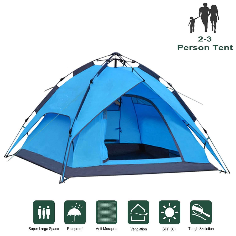 IPOTEK Tente de Jardin 2 /à 3 Personnes 240 x 210 x 135 cm Bleu