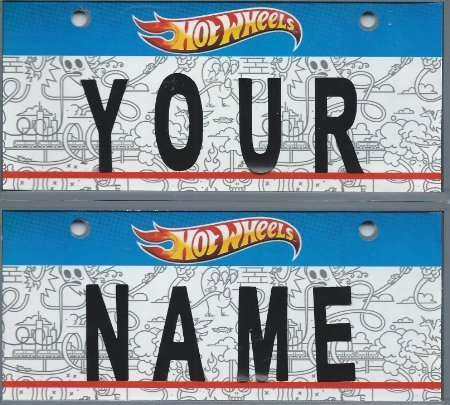 Collectable License Plate (Hot Wheels Vanity Plate)