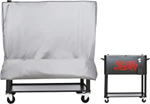 Cooler Cart Cover(New Upgrade) - Universal Fit for Most 80 QT,Super Insulation Cashmere Material,Rolling Cooler (Patio Cooler,Beverage Cart, Rolling Ice Chest) Protective Cover (Silver)