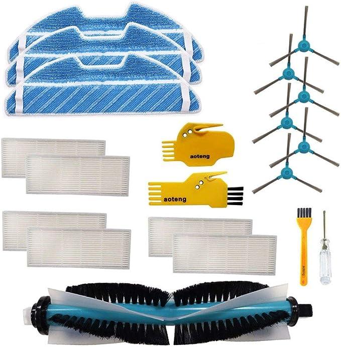 DOKKOO Kit de repuestos Accesorio para Cecotec Conga 5090 Robot Aspirador Repuestos Paquete de 10 filtros de Caja de Polvo