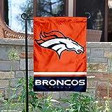 Denver Broncos Double Sided Garden Flag
