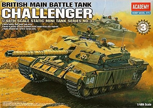 British Battle Main Tank (Academy 13007 British Main Battle Tank GHALLENGER 1/48 TA995 Plastic Model Kit /item# G4W8B-48Q33000)
