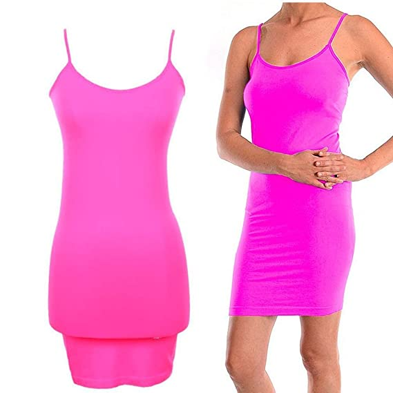 1428ac72e13 New Extra Long Seamless Tunic Dress Slip Camisole Layering Tank Top Spandex  One Size