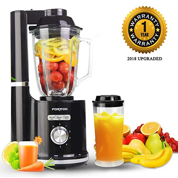 High Speed Vacuum Food Processor Juice Smoothie Jar Mixer Blender 50 Oz Ice Crusher BPA Free