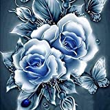 Hot Sale! DIY 5D Diamond Embroidery Painting Kits, Iuhan 5D Elegant Flower Embroidery Paintings Rhinestone Pasted DIY Diamond Painting Cross Stitch Home Decals (D)